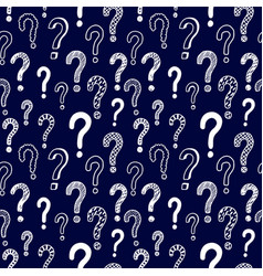 Seamless pattern with doodle questions vector