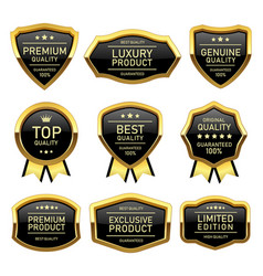 set of badges labels quality product vector image