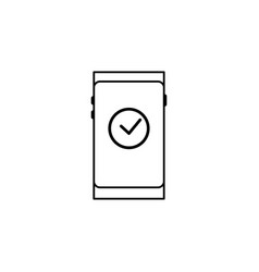 Smartphone solved icon vector