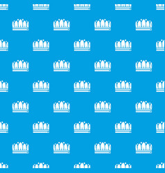 Snow crown pattern seamless blue vector