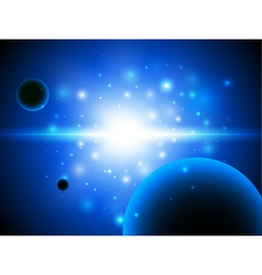 Space background with stars and planet vector