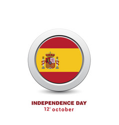 Spain independence day design card vector