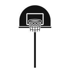 Street basketball hoop icon simple style vector