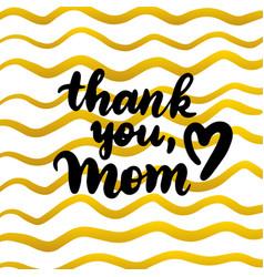 Thank you mom handwritten postcard vector