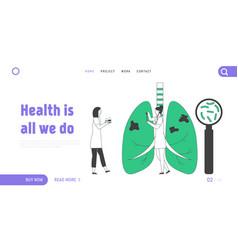 Tuberculosis website landing page doctor vector