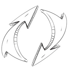 Two rounded arrows vector image