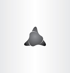 black stone triangle shape icon vector image vector image