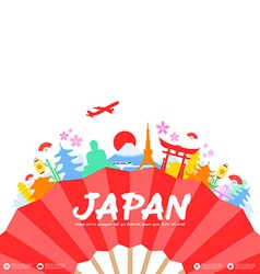 Japan travel landmarks vector