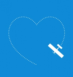 love flying vector image vector image