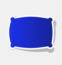 pillow sign new year bluish vector image
