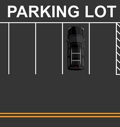 Top view parking lot vector