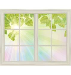 window spring vector image vector image
