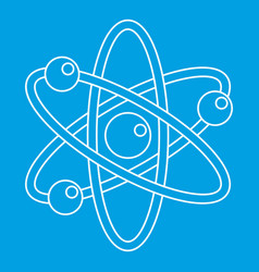 atom icon outline style vector image