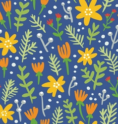 Blue background seamless pattern with colorful vector image