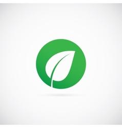Eco Dot Abstract Symbol Icon or Logo Template vector image