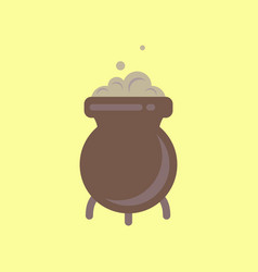 flat icon stylish background cauldron witches vector image vector image