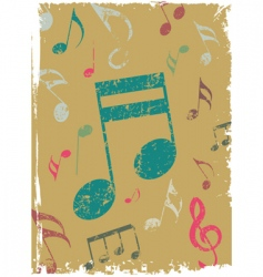 grunge background with tunes vector image vector image