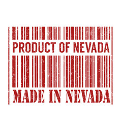 product of nevada made in nevada barcode vector image