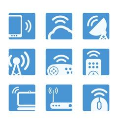 Wireless equipment buttons vector