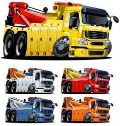 cartoon tow truck one-click repaint vector image