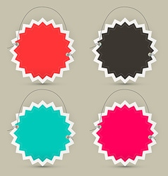 Empty Paper Toothed Star Shaped Labels - Tags or vector image
