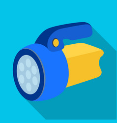flashlighttent single icon in flat style vector image vector image