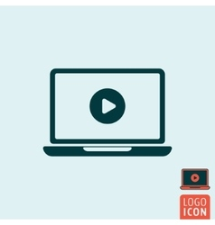 Laptop icon isolated vector image