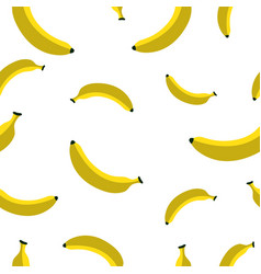 Seamless pattern with banana vector