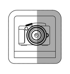 silhouette studio professional camera icon vector image