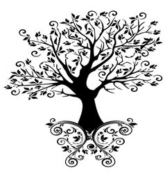 tree with ornaments vector image vector image