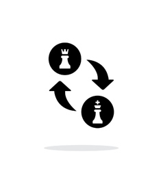 Castling simple icon on white background vector image vector image