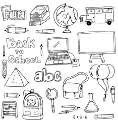 Hand draw education element doodles vector image vector image