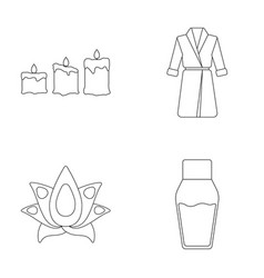 multicolored candles with a flame a blue robe vector image vector image