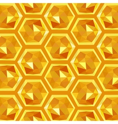 origami honeycomb pattern vector image vector image