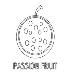passion fruit icon outline style vector image vector image