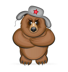 russian angry bear vector image vector image
