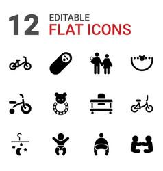 12 newborn icons vector