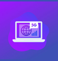 5g network connection icon vector