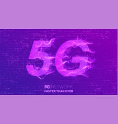 abstract 5g new wireless internet vector image