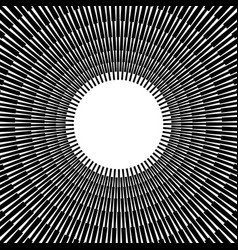 Abstract bursting radiating lines monochrome vector