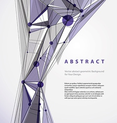 Abstract geometric background contemporary style vector