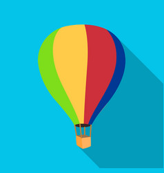 Airballoon icon in flat style isolated on white vector