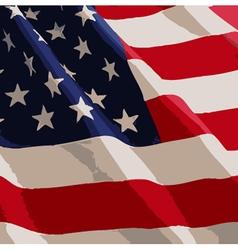 American flag 01 vector
