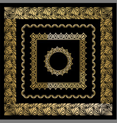 art deco art nuevo geometric frames triangles vector image