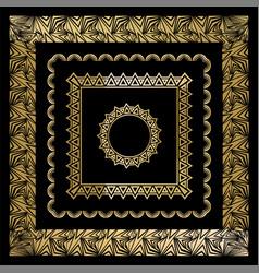 Art deco art nuevo geometric frames triangles vector