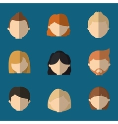 Assorted faceless people heads icon image vector