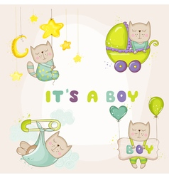 Baby cat set - for shower cards vector