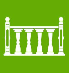 Balustrade icon green vector