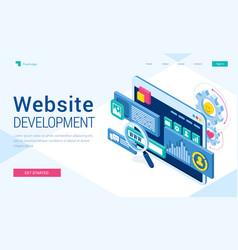 Banner website development vector
