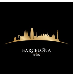 Barcelona Spain city skyline silhouette vector image
